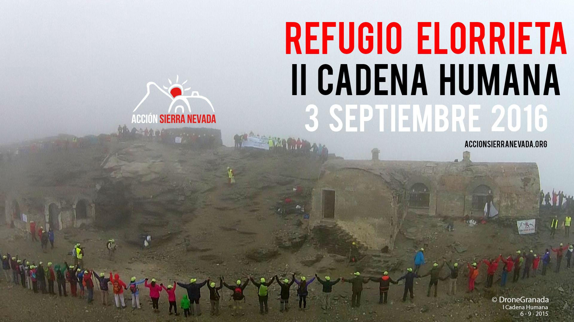 II Cadena Humana al Refugio Elorrieta – 3 de septiembre